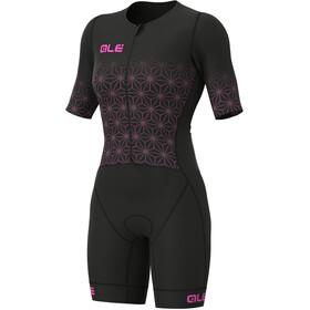 Alé Cycling Maui SS Triathlon Skinsuit Long Women, negro